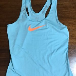 Nike Pro dri-fit aqua tank size medium
